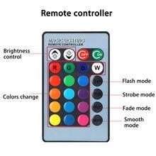 Voiture ampoule LED 16 couleurs rvb W/sans fil IR à distance antibrouillard conduite 6000K 12V