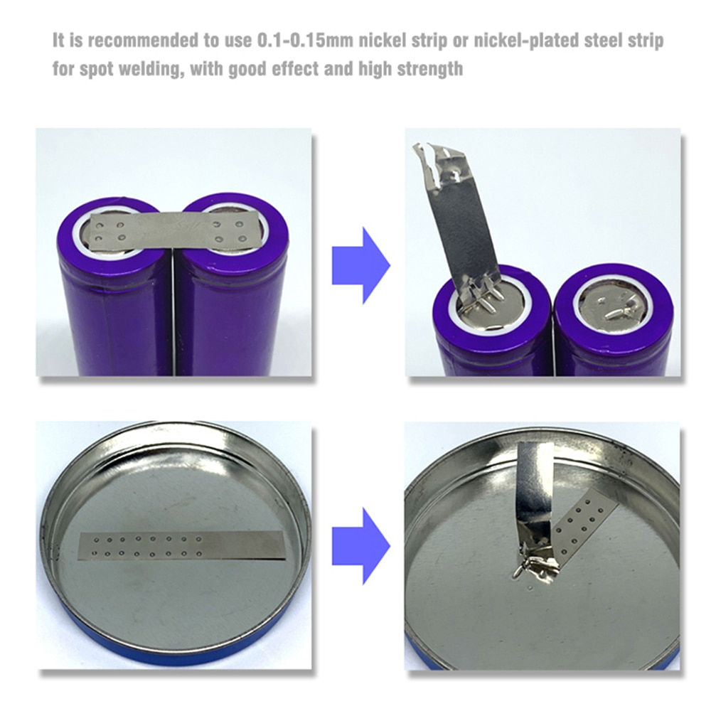 DX10 Portable Spot Welder OLED Adjustable Battery Spot Welding Machine Welder Tools 0.2/0.3mm Nickel For 18650 8awg Spot Pens enlarge