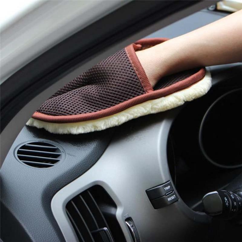 Guantes de lana de cachemira para lavado de automóviles para Mitsubishi Asx Lancer 10 9 Outlander 2013 Pajero Sport L200