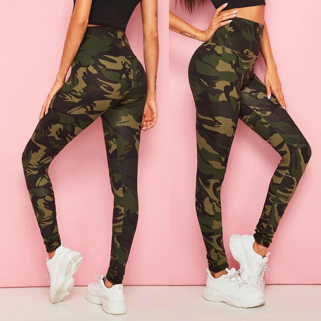 Leggings Sport Women Fitness Camouflage Camo Leggings Workout Gym Training Running Sport Fitness Exercise Trousers Leggings tape side camo print leggings
