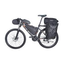Bicicleta bolsa impermeable bicicleta alforjas compañías gira maletero Pack silla bolso para bicicleta de manillar frente Bolsa de tubo superior opción