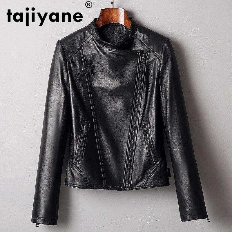 Chaqueta de piel auténtica para mujer, ropa coreana 2020, abrigo de piel de oveja Vintage para primavera y otoño de talla grande ZT2332