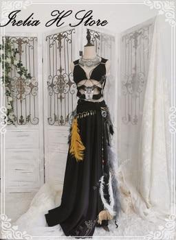 Custom made/size FF14 Cosplay Ravel Keeper's Chestwrap of Healing Cosplay Costume dress female