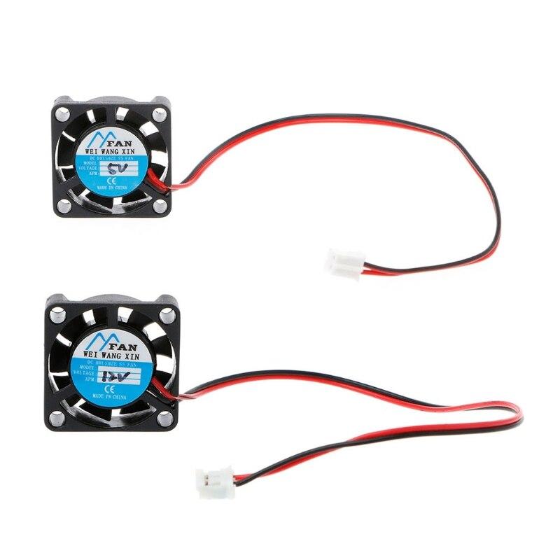25 × 25 × 7mm c. C 5V 12V 2 broches refroidisseur sans brosse jeu de puces Mini ventilateur de refroidissement 2507 J6PB