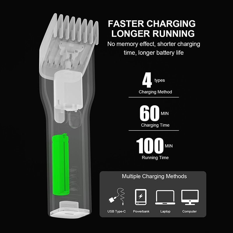 ENCHEN Boost Men's Electric Hair Clipper USB Rechargeable Hair Trimmer Professional Hair Cutter for Men Adult Razor enlarge