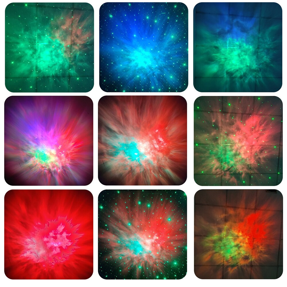 New starry sky LED projector laser light galaxy starry sky rotating projection lamp bedroom children's gift stage party light enlarge