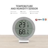 Tuya ZigBee     capteur intelligent de temperature et dhumidite pour maison  dispositif daffichage LED  fonctionne avec Alexa Google Assistant passerelle ZigBee