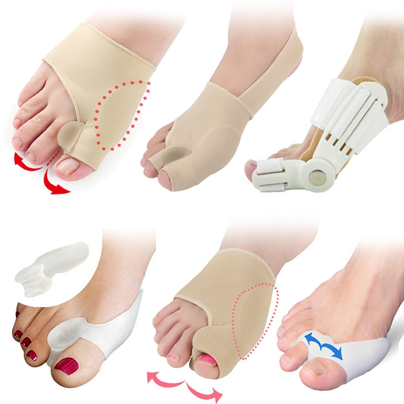 Bunion корректор для педикюра Инструменты для ухода за ногами сепаратор для ног вальгусный выпрямитель для вальгусной деформации против трения гелевые подушечки наклейки для обуви стельки