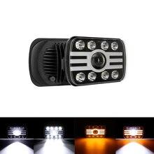 5x7 Car Suqare LED Headlights Hi-Lo Beam DRL Turn Signal Lamp Waterproof For Jeep Wrangler YJ/Cherokee XJ/Comanche MJ/Ford/GMC