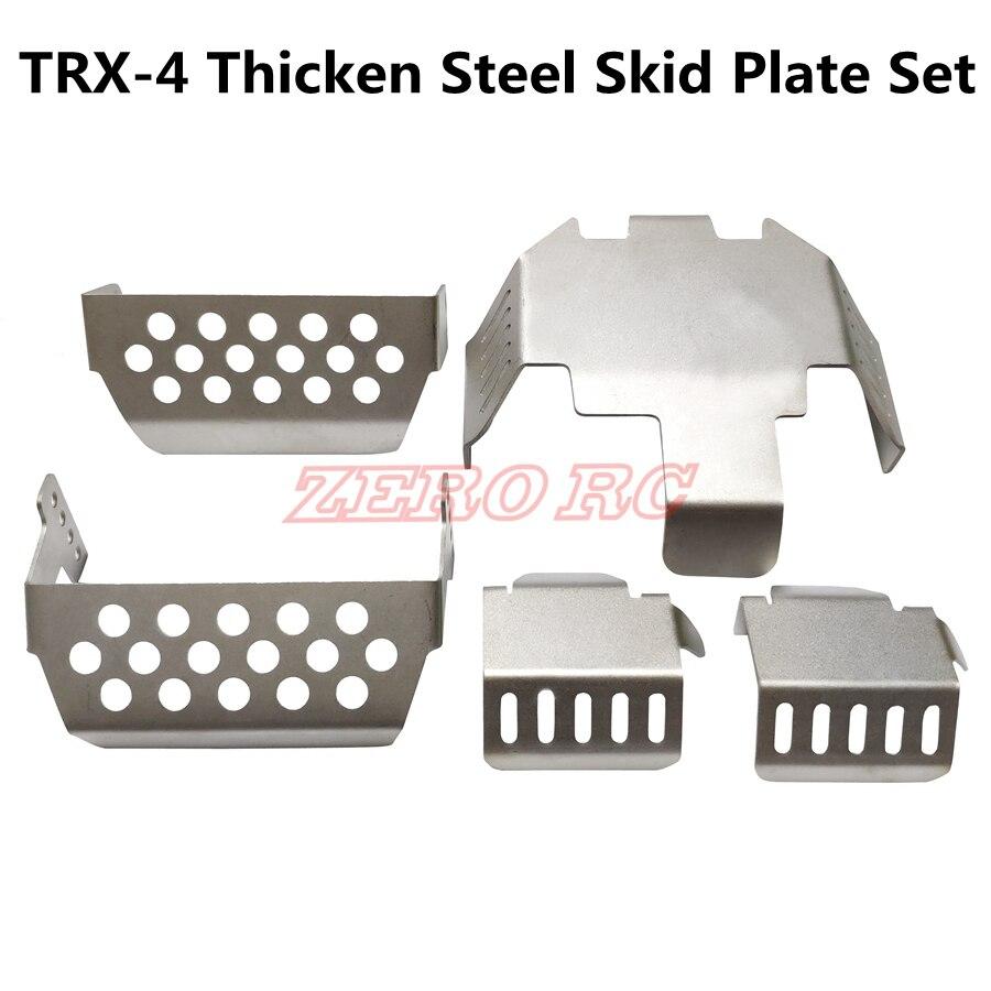 Передний Задний бампер из нержавеющей стали, ниже + ось + крепление коробки передач, защитная противоскользящая пластина для TRAXXAS TRX-4 T4