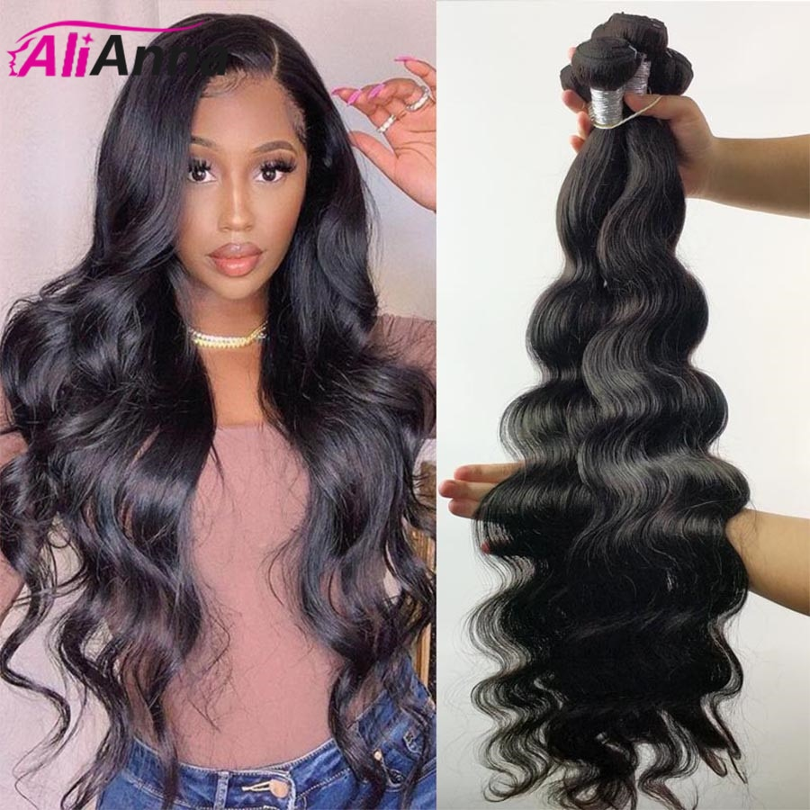 32 34 36 38 40 Inch Body Wave Bundles Brazilian Hair 100% Human Hair Bundles Alianna Hair 30 inch Bu