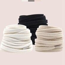 1pair Shoelaces Classic Retro Double Weave Shoelace Canvas Cotton Flat Shoe Laces Sneaker Strings Bo