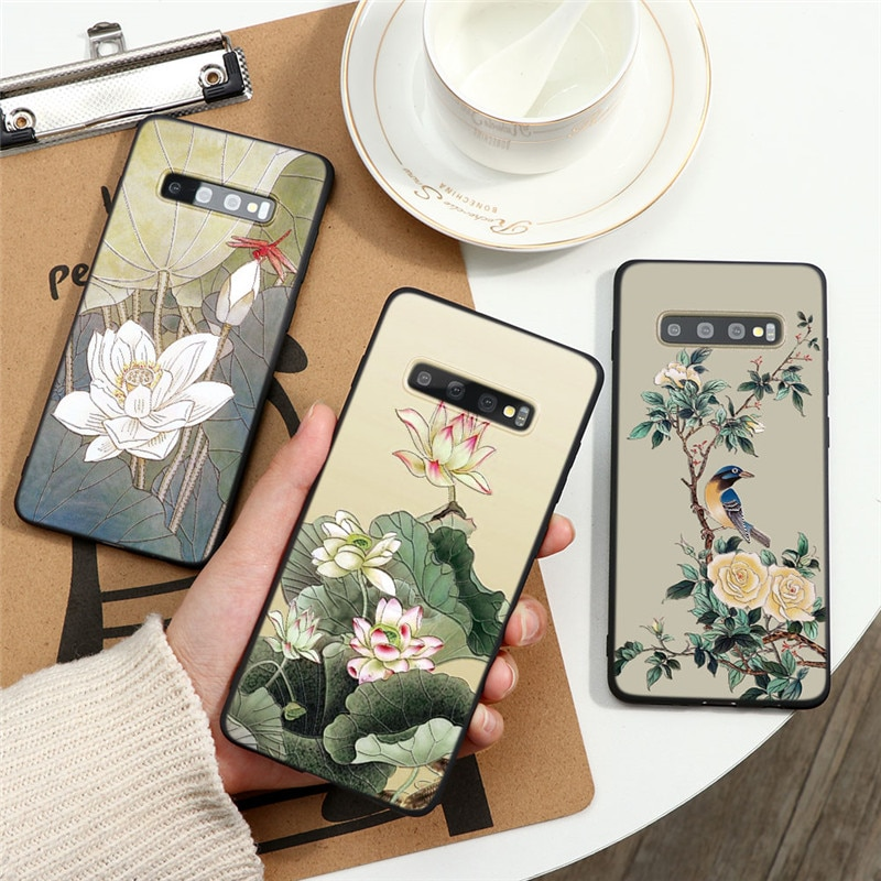 3D relieve Coque para Samsung Galaxy A51 A71 S10 S8 S9 S20 Ultra Plus A11 A21s A31 A41 A91 A10 A20 A30 A40 A50 A70 TPU caso