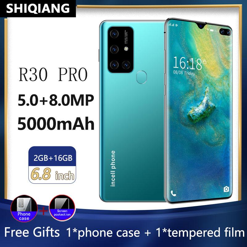 Soyes r30 pro versão global smartphone 5000mah face id telefone móvel android 6.8 Polegada 16gb telefone hexa núcleo 2 sim cartão telefone celular