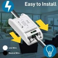 10A Wifi Smart Switch Timer Diy Draadloze Schakelaars Smart Domotica Compatibel Met Tuya Alexa Google Domotica Module