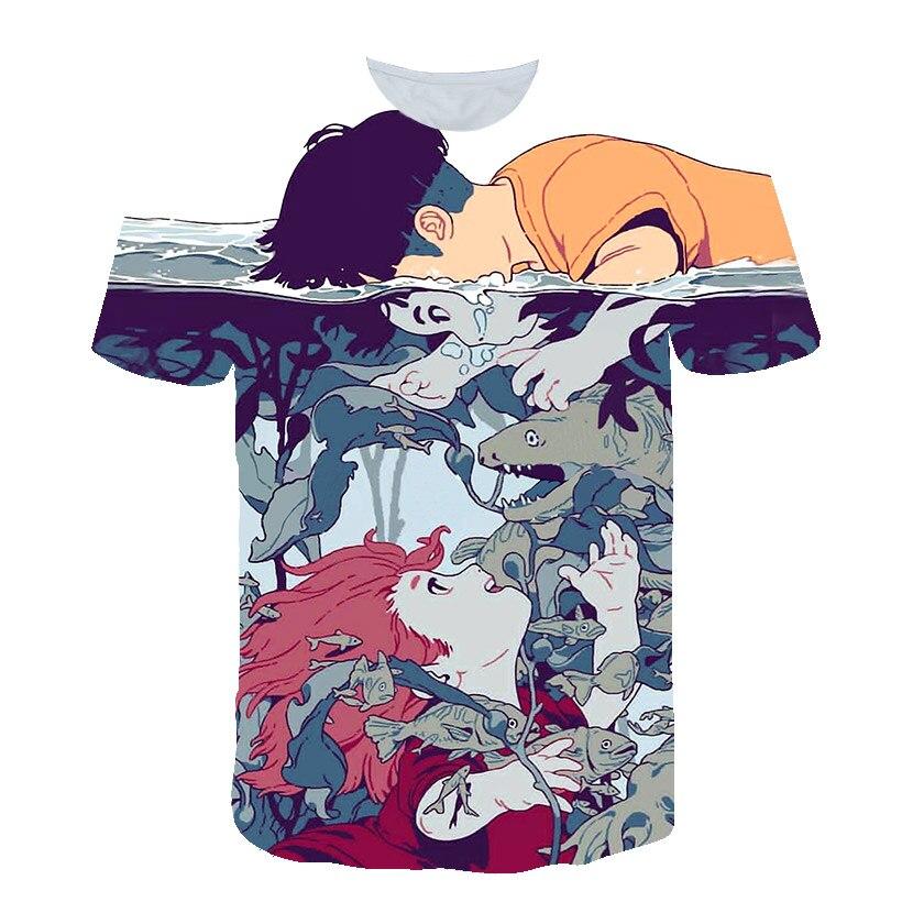 Camiseta estampada de diseño para niños y niñas, chaqueta guay para niños, nueva camiseta 3D de dibujos animados de moda de verano 2020 divertida