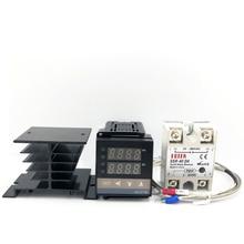 Dissipatore di calore 0-1300C, termostato digitale, regolatore di temperatura, uscita SSR + Max.40A relè SSR + K termocoppia
