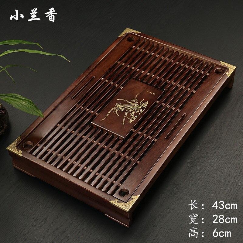 [GRANDNESS]-صينية شاي الكونغ فو الصينية ، صينية شاي من الخشب الصلب ، طقم شاي طاولة 43*28*6 سنتيمتر