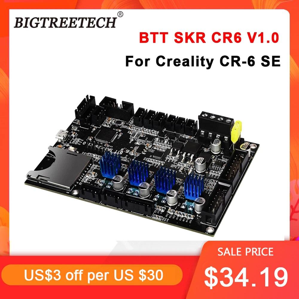 BIGTREETECH BTT SKR CR6 V1.0 اللوحة المتكاملة TMC2209UART مزدوجة Z-محور 3d أجزاء الطابعة ل Creality CR-6 SE 3d طابعة