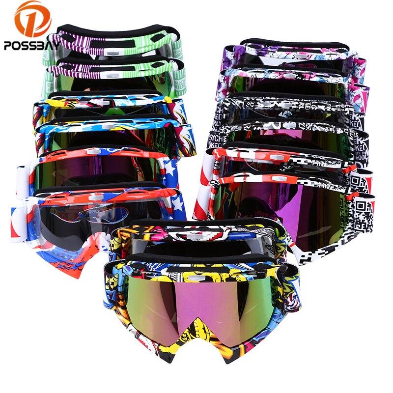 POSSBAY, gafas deportivas para motocicleta, gafas para Motocross, gafas para Skate y nieve, gafas de protección UV para moto, gafas para Cafe Racer