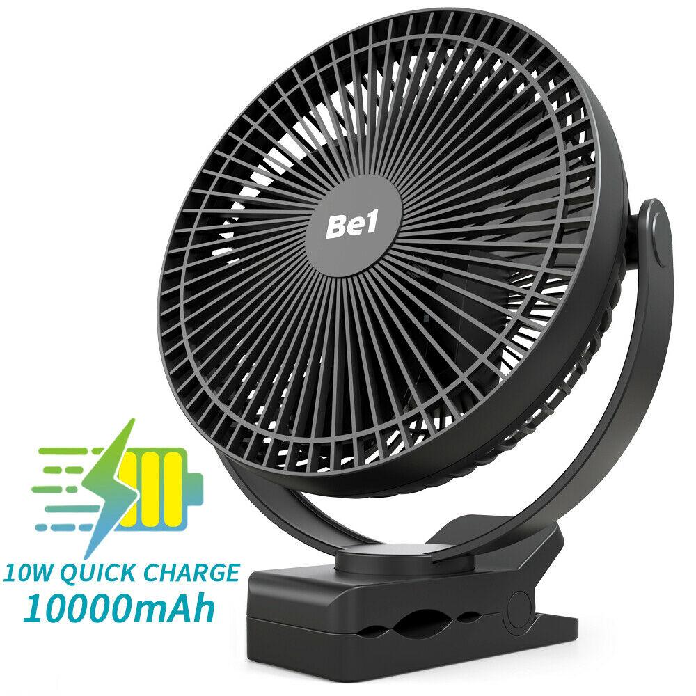 8-дюймовый перезаряжаемый вентилятор с зажимом, циркуляционный USB вентилятор, портативный для кемпинга, пляжа или автомобиля, 10000 мАч