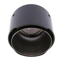 black carbon fiber auto car exhaust pipe tail muffler end tip