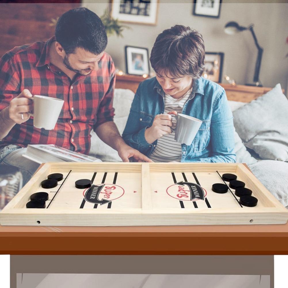1 conjunto de crianças tabuleiro-jogo de festa brinquedos criança família rápida hóquei sling puck para adulto jogo ritmo sling puck vencedor diversão brinquedos