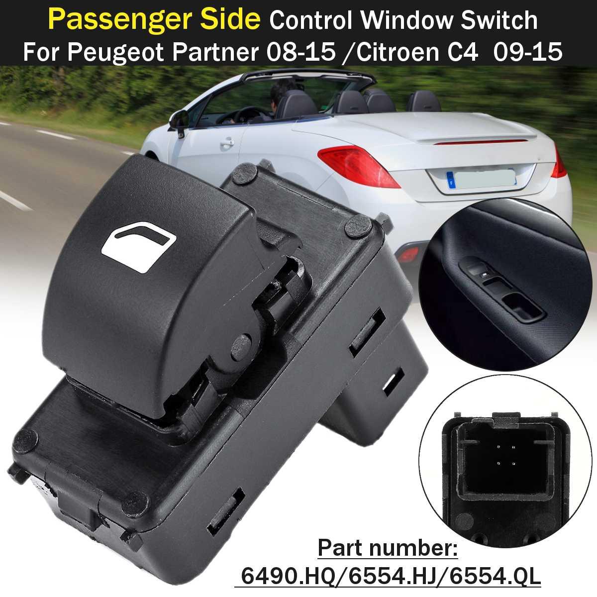 Car Window Passenger Switch Button For Peugeot Partner 207 Citroen C4 B7 2008 2009 2010 2011 2012 2013 2014 2015 6490.E3 6490E3