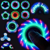 Офисная игрушка для взрослых, светодиодный Спиннер, ручной металлический цветной светящийся Спиннер, антистресс, игрушка для детей, новинк...