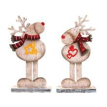 1PCS Xman DIY Handwerk Holz Elch Ornamente Holz Frohe Weihnachten Dekoration Für HomeGifts Neue Jahr 2021