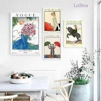 Nordique retro impression toile peinture mode fille mur Art affiche abstraite Graffiti peinture decor a la maison salon Mural photos