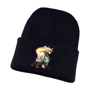 Anime Boku No Hero Academia Knitted Hat Cosplay Hat Unisex Print Adult Casual Cotton Hat Teenagers Winter Knitted Cap