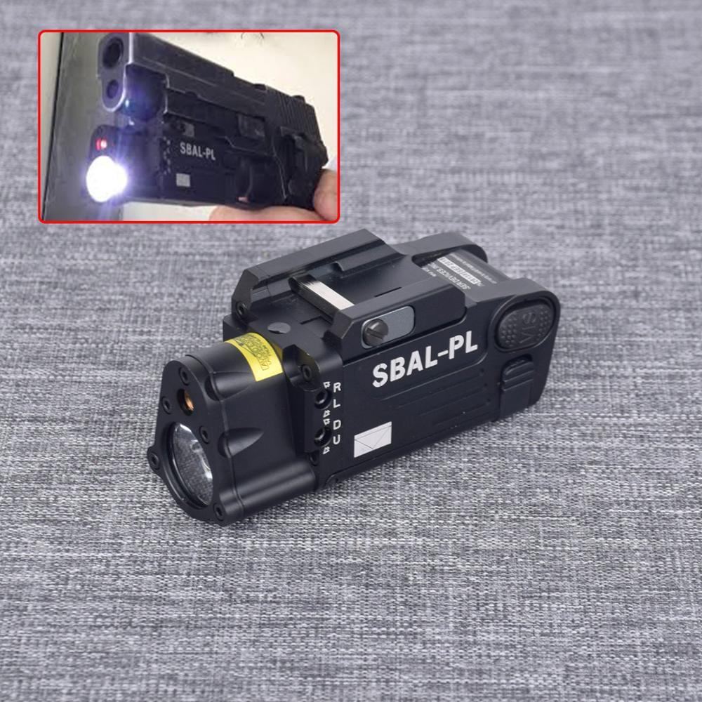 SBAL-PL Tactical Laser Flashlight Hunting Weapon Light Combo Red Laser Pistol Constant/Strobe Gun Light For Picatinny Rail