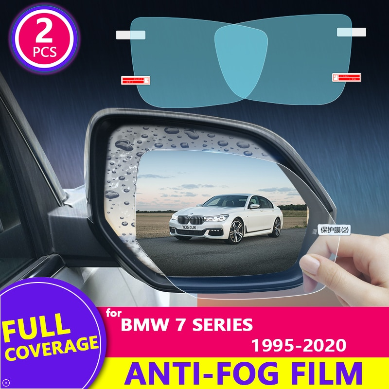 Para BMW 7 Series E38 E65 F01 G11 1995-2020 película para espejo retrovisor HD Anti-niebla impermeable Auto espejo adhesivo accesorios de coche