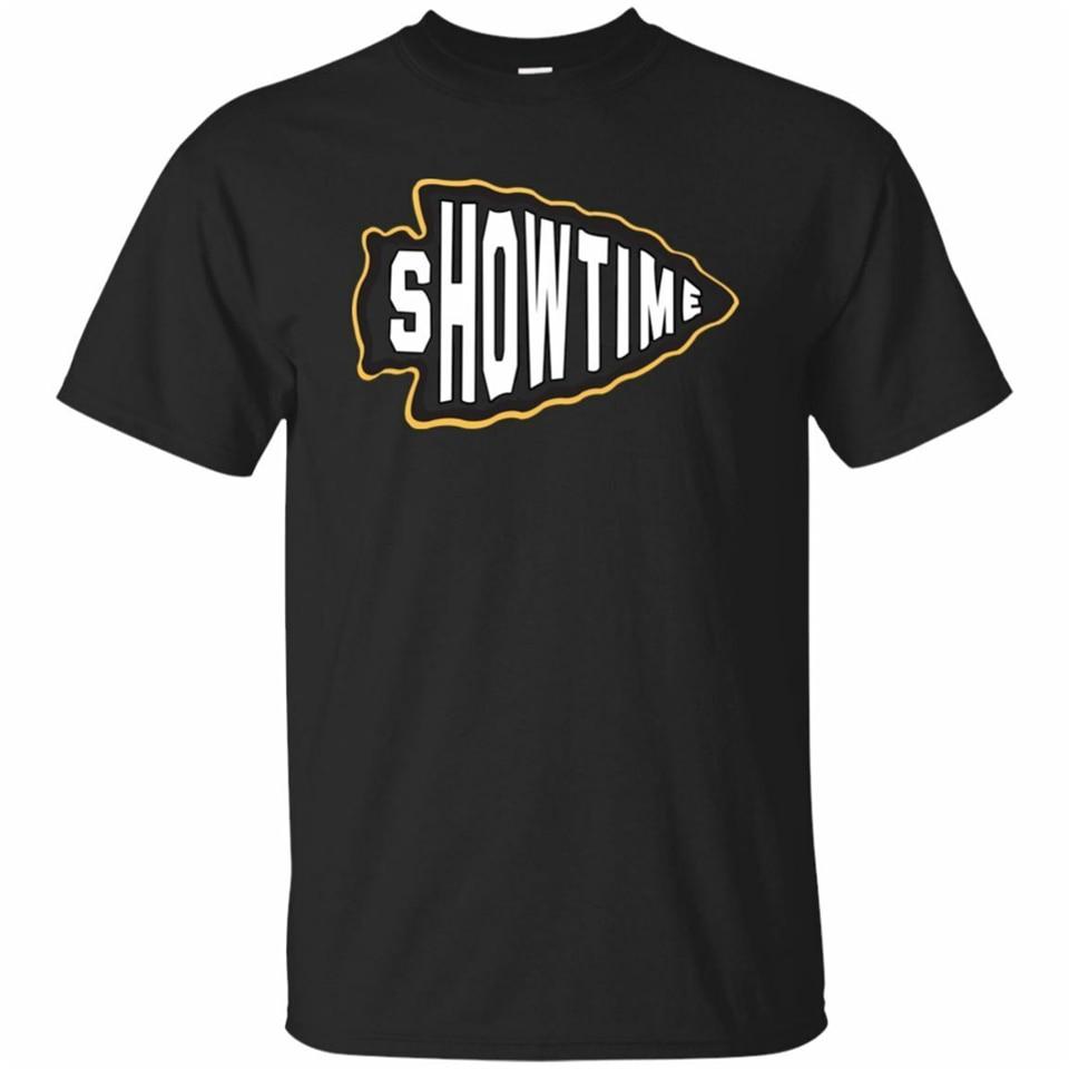 Showtime Mahomes Tshirt Mens Black Navy Baseball Funny Short Sleeve S 3Xl Breathable Tee Shirt
