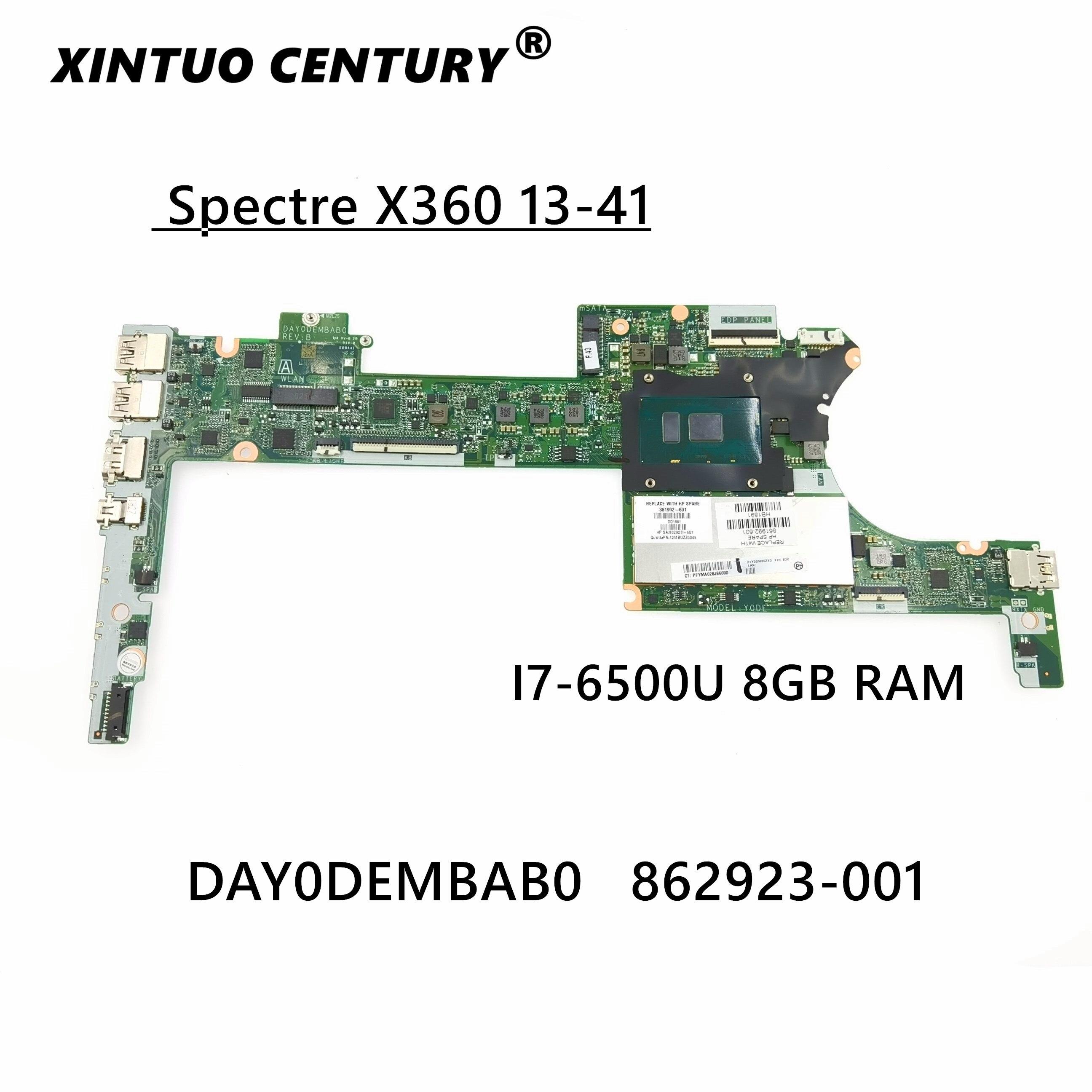 ل HP شبح X360 13-41 DAY0DEMBAB0 862923-601 862923-001 اللوحة المحمول SR2EZ I7-6500U 8G