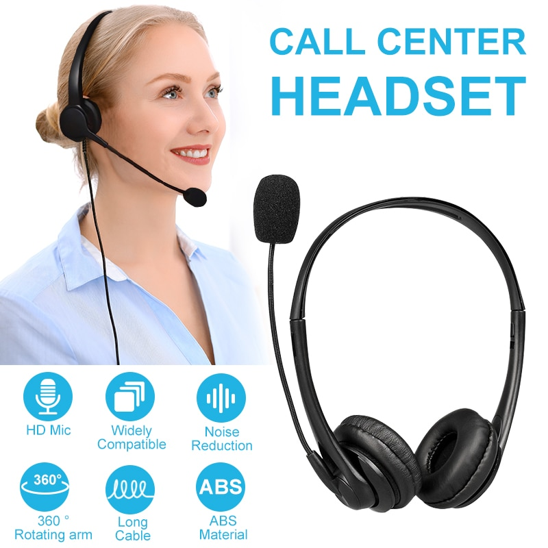 wantek corded telephone noise canceling mic quick disconnect for call center telephone systems with plt m10 m12 m22 amplifiers Call Center Wired Headset With Microphone Telephone Operator Headphone Noise Canceling for Computer Phones Desktop Boxes