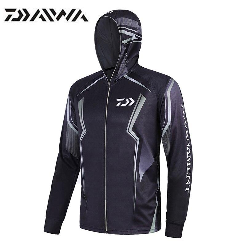 Daiwa, ropa de Pesca, Anti UV, senderismo, Camping, ropa deportiva, jerséis de secado rápido para ciclismo, chaleco transpirable, Camiseta DAIWA Pesca