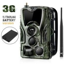 3G SMS MMS SMTP caméra de chasse de sentier 16MP caméras cellulaires HC801G Photo piège la Surveillance sauvage avec batterie au Lithium 5000Mah