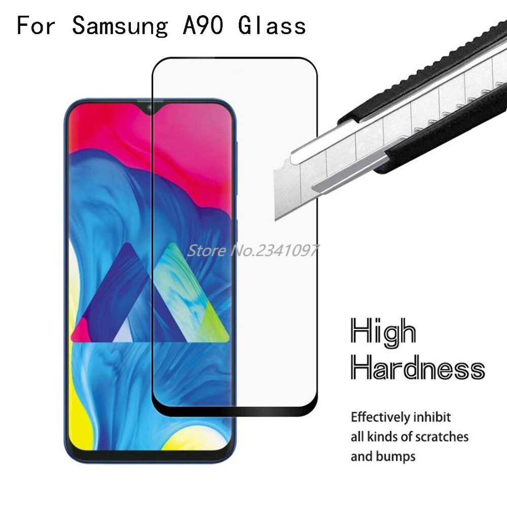 9H 3D Full Cover Glass For SAMSUNG Galaxy A90 Tempered Glass Bubble Free For SAMSUNG Galaxy A90 Warr