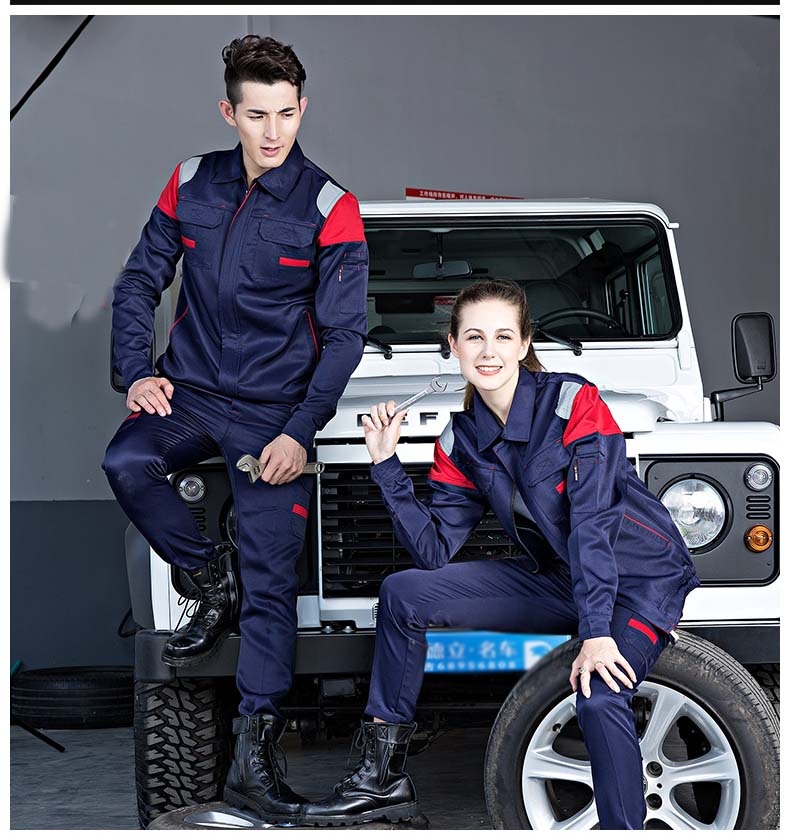 Ropa de trabajo para soldar ropa para hombres y mujeres de manga larga uniforme de trabajo para taller de coches traje de trabajo mecánico