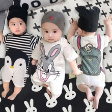 2021 Summer New Baby Romper Short Sleeve Baby Boys Girls Clothes Newborn Clothing Casual Baby Girl C
