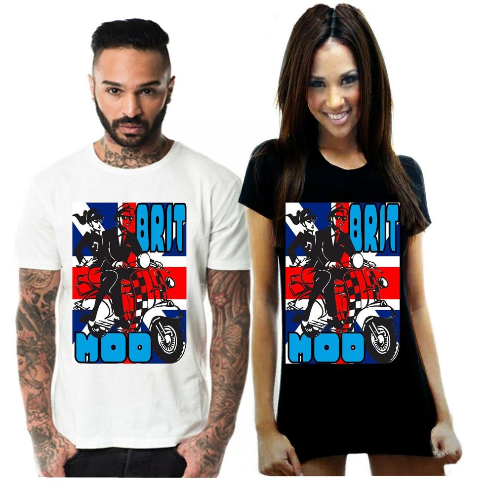 Britsh Mods Brit Mods Scooter Unisex hombres camiseta eslóganes camiseta personalizada