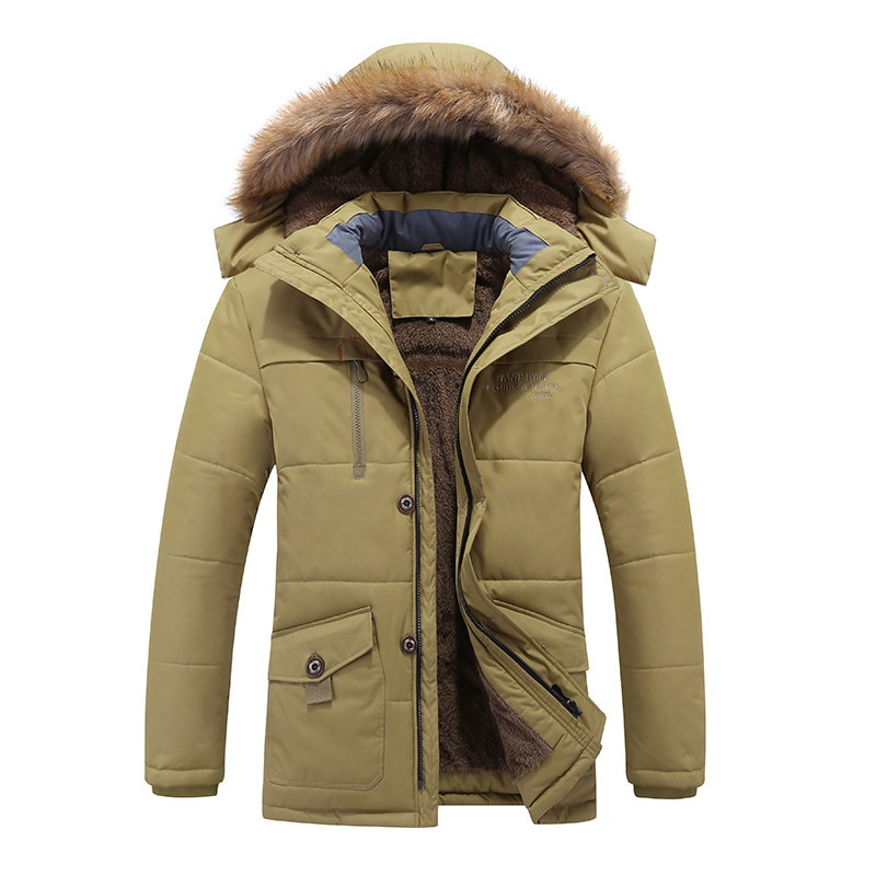 In winter the middle-aged and old people's long warm cotton padded clothes are added with velvet thickened
