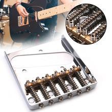 Telecaster Electric Guitar Bridge Chrome Saddle Bridge for Fender Tele Replacement