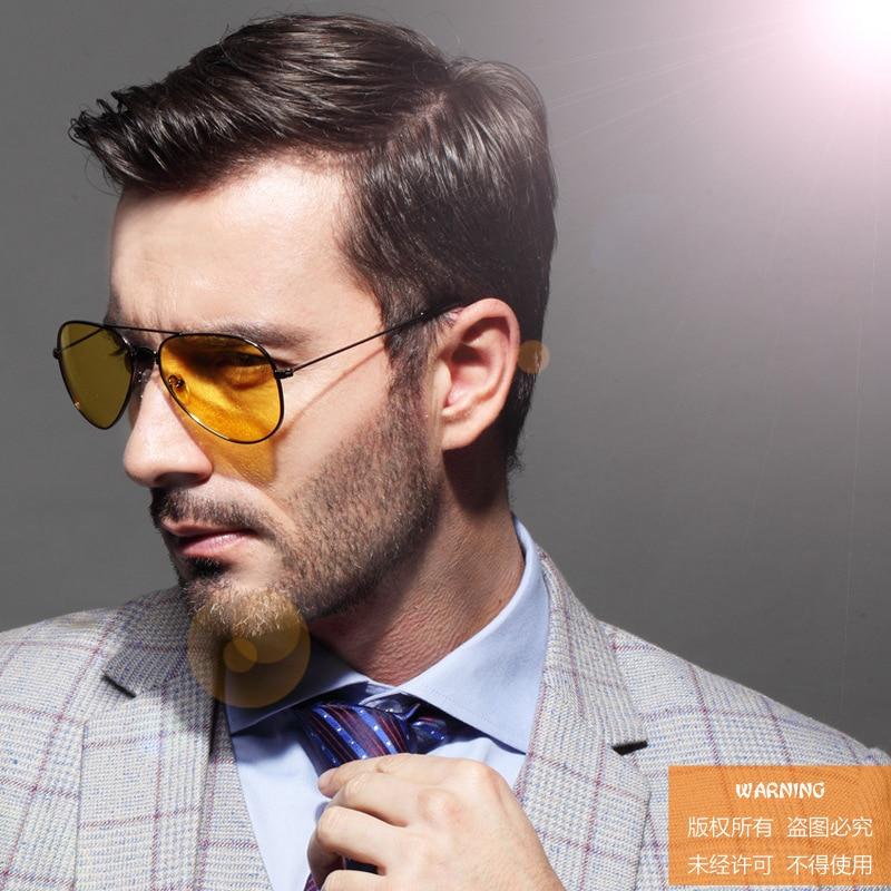 Pilot Night Vision Sunglasses Men Women Goggles Glasses UV400 Alloy Sun Glasses for women men Driver