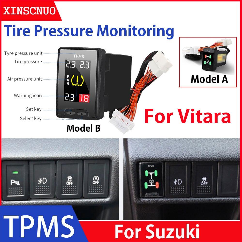 Car Electronics OBD TPMS For Suzuki Vitara tyre pressure monitor security alarm system car modificat