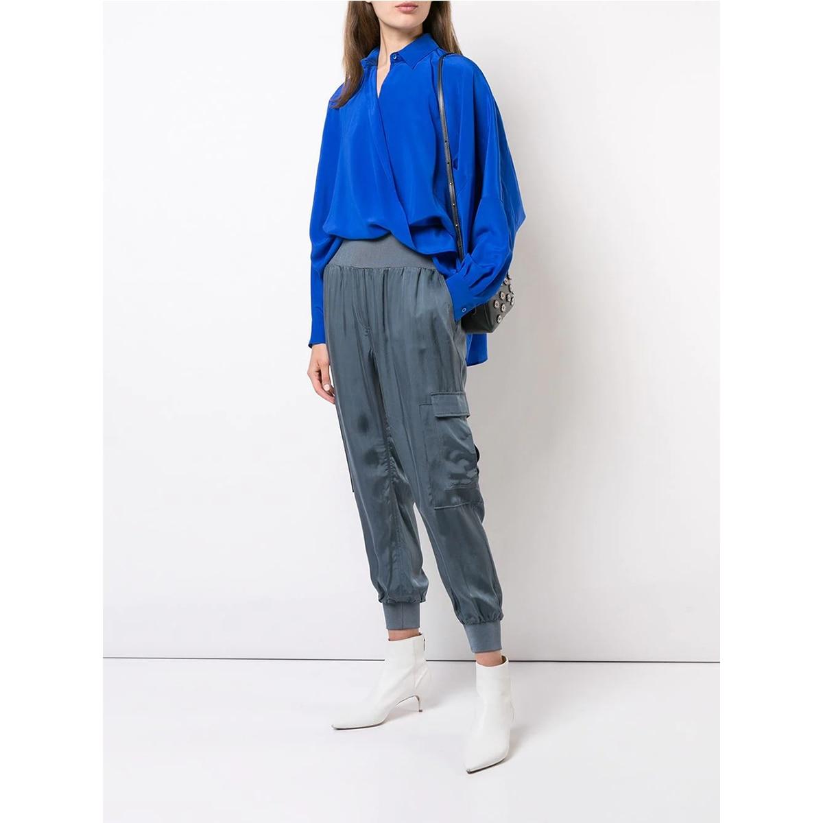 Женские брюки стрейч, повседневные зауженные брюки до щиколотки, спортивные брюки-карго, Осень-зима 2021
