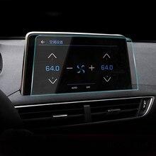 8 zoll Auto styling Navigation Gehärtetem Glas Screen Protector Stahl Portective Film FÜR PEUGEOT 3008 3008GT 5008 2017 2018 2019