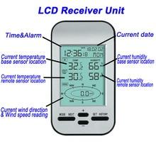 433mhz Wireless Weather Station Clock Wind Speed Direction Sensor Temperature THJ99